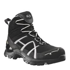 Полуботинки берцы HAIX Black Eagle Safety 40 Mid Black / Silver